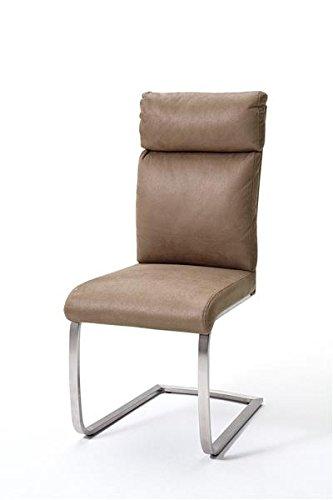 2 Stühle Rabea, Schwinger, Schwingstuhl, Freischwinger, sand