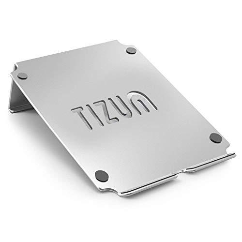 Tizum Anodised Aluminium Laptop Stand with Steady Ergonomics (Silver)