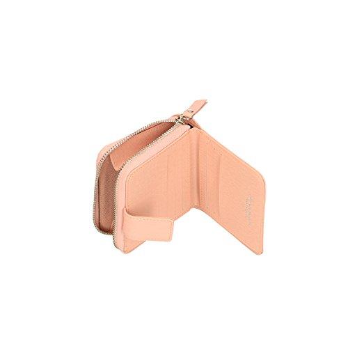 Chicca Borse Portafogli in pelle 11x10x3 100% Genuine Leather Rosa