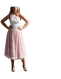Factory Sposa Vestidos de Novia a Medida Traje de Boda para Mujer Asimétrico con Encaje Vintage