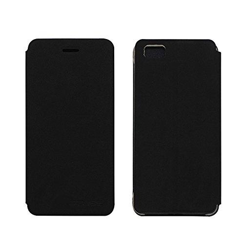 Owbb Hülle für Ulefone Future Handyhülle Hard Plastik PU Ledertasche Flip Cover Tasche Hülle Case mit Stand Function Retro Klapphülle Design Schwarz