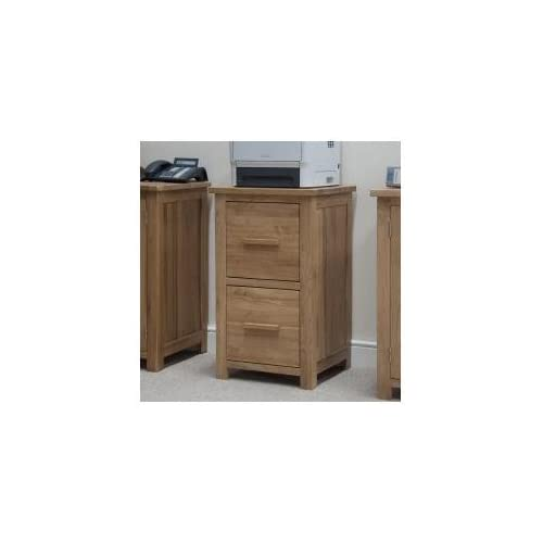 Eton solid oak furniture two drawer office computer filing cabinet