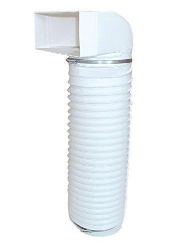 Aerazione Deflettore con 0, 5m Flexschlauch Diametro 150mm Deflezione da Cappuccio (tondo) a rettangolare