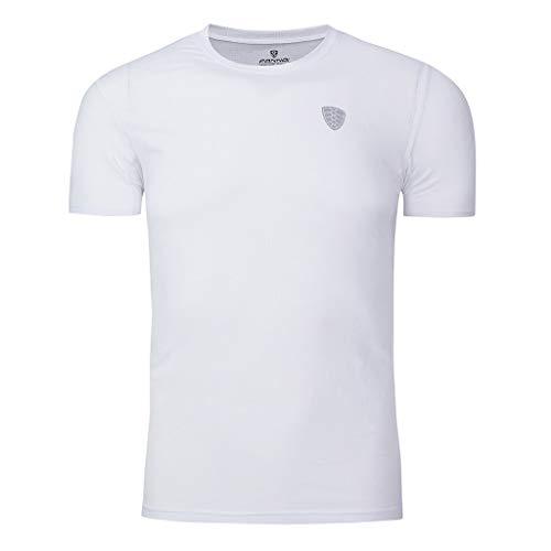 nesskleidung für Herren Einfarbig Slim Fit Top Tankshirt T-Shirt Unterhemden Kurzarm Muskelshirt ()