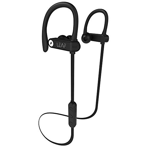 Leaf Sport 2 Wireless Bluetooth Earphone with Mic and Sports Ear Hook (Carbon Black)