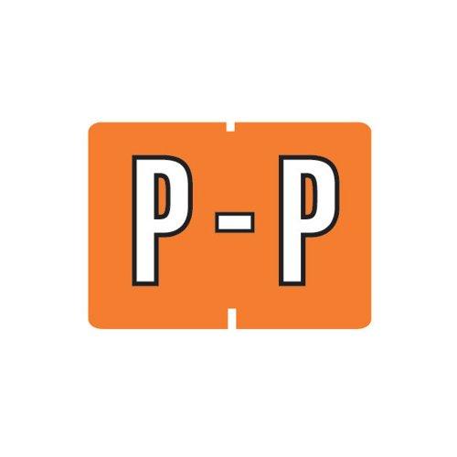 Smead A-Z color-coded etiquetas, P, naranja oscuro, 252etiquetas por paquete (22037)
