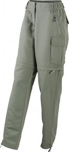 James & Nicholson Damen Hose Ladies' Zip-Off Pants Small dusty-olive -