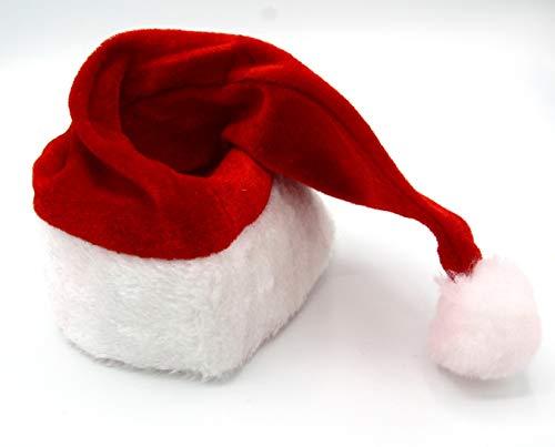 Dollar Store Gorro de Papa Noel para Adulto. Accesorio para Fiesta de Navidad