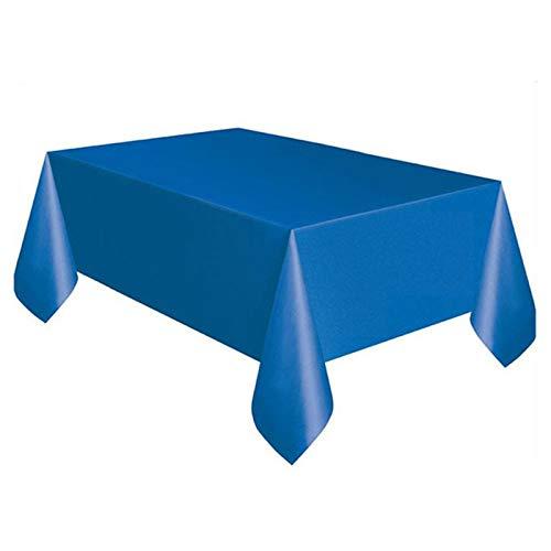 YHLVE Kunststoff-Tischdecke, groß, rechteckig, Kunststoff, Prinzessin, Kindergeburtstag, Party-Zubehör, Plastik, dunkelblau, 137cmx274cm