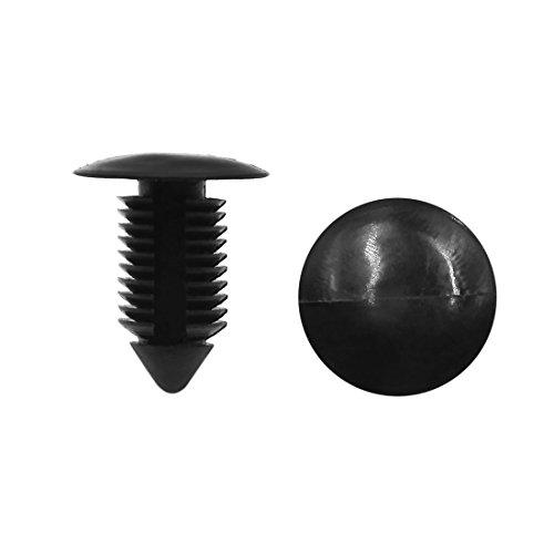 Tradico® 40pcs 11mm Hole 20mm Head Car Defender Door Moulding Clips Trim Fasteners Black