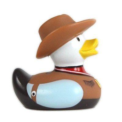 DUCKSHOP I Badeente I Quietscheente I Mini Cowboy Duck I Quietscheentchen I L: 6,5 cm