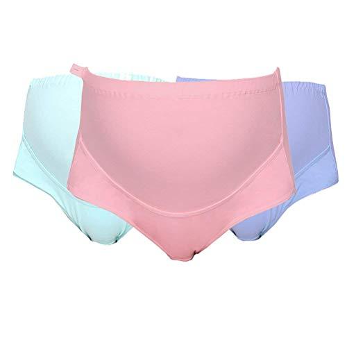Emmay 3 Pack Schwangere Unterhosen Coole Niedriger Frauen Sachen Taille Schwanger Schwangerschaft Unterwäsche Elastisch Bequem Weiches Atmungsaktiv Keine Spur Slips Panty Unterwäsche Damen