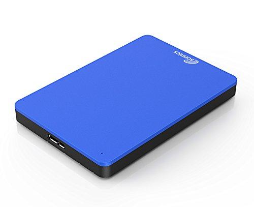 Sonnics 500GB Blu hard disk esterno portatile USB 3.0 Super velocità di trasferimento per uso con Windows PC, Apple Mac, Xbox One e PS4