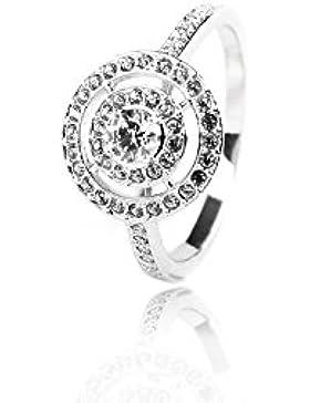 Swarovski Damen-Ring rhodiniert Glas transparent Gr. 55 (17.5) - 5184209