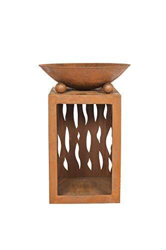 hiba Feuerstelle mit Ständer aus oxidiertem Stahl, Natur rostet, ()
