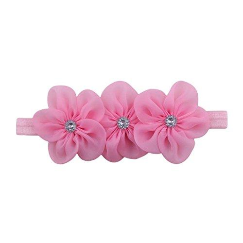 JERFER Haarband Kinder Mädchen Elastische Blumen Stirnband Haar -