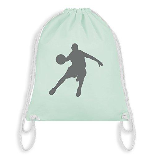 Basketball - Basketballspieler - Unisize - Pastell Grün - WM110 - Turnbeutel & Gym Bag