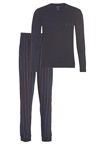 Smith Dunkelblauer Herren Pyjama lang - 2 TLG. dunkelblau,XL