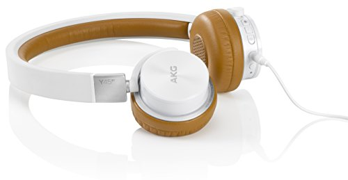 AKG Y45BT White Wireless Bluetooth NFC Aufladbarer Mini Stereo On-Ear Kopfhörer mit Abnehmbarem Audiokabel und Integrierter Lautstärkeregelung/Mikrofon Kompatibel mit Apple iOS und Android Geräten - Weiß