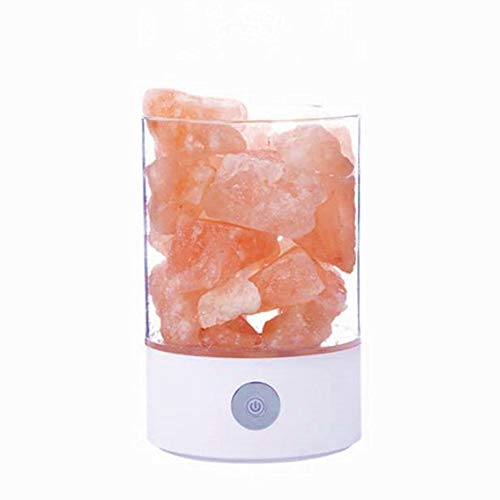 USB Natural Himalayan Salt Lamp & Lava Lampe Crystal Light Pink Salt Crystal Rock Lampe Lampe Luft Purifier mit Touch Dimmable Control Tischlampe Schlafzimmer Mood Creator Indoor