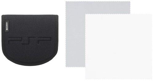 PSP - Tasche für Zubehör black + Reinigungstuch