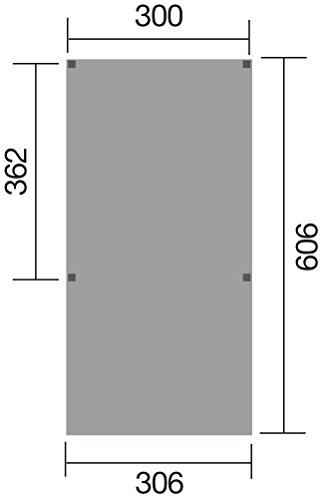 weka Y-Einzelcarport, mit Stahldach, Pfosten12x12 cm, Schneelast 125 kp