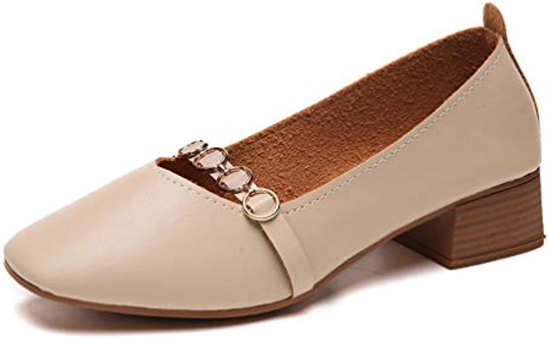 JRenok Femmes Talons Bas Chaussures Bateau de Bateau Chaussures Talons Moyens Square Toe Mary Janes Chaussures OL Bureau PompesB07JVKT85VParent 57c5bf