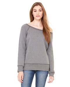 Bella Damen Triblend Wideneck Sweatshirt Gr. XXL, Deep Heather - Bella Damen Heather