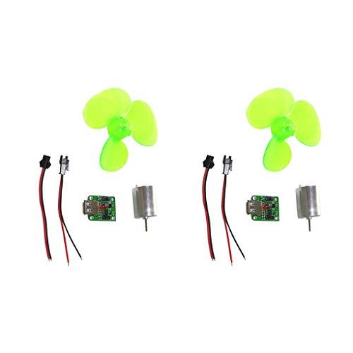 Sharplace Accessori per Generatore Eolico Turbina Orizzontali DIY Caricabatterie da Telefono