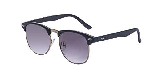 ALWAYSUV Halb Schwarz Rahmen Kurzsichtig Sonnenbrille Kurzsichtigkeit Myopia Brillen -3.0