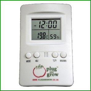 Advanced Nutrition Plug and Grow–Thermometer und Min Max Hygrometer–Grow Raum Hydrokultur