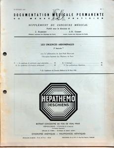 SUPPLEMENT DU CONCOURS MEDICAL N? 7 du 16-02-1957 LES URGENCES ABDOMINALES 2E FASCICULE - V LE SYNDROME DE PERITONITE AIGUE GENERALISEE - A LE SYNDROME D'IRRITATION PERITONEALE - B L'ETIOLOGIE - I LES PERFORATIONS DIGESTIVE