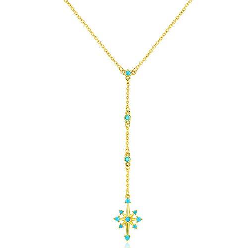 Für Erwachsenen Sonnenschein Tragen Kostüm - J.Memi's Stern Halskette Zirkonia 925 Sterling