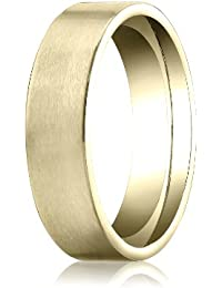 14ct Yellow Gold, 6mm Comfort-Fit Satin-Finished Carved Band (sz H to Z5)