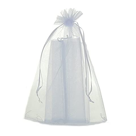 zalago 20cm x30cm Blanc Pochette en organza Säckli cadeau bijoux sacs, Lot de 50