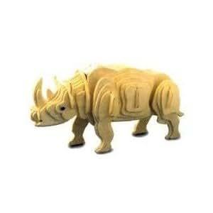 Jeu de Construction en bois - Rhinocéros 3D