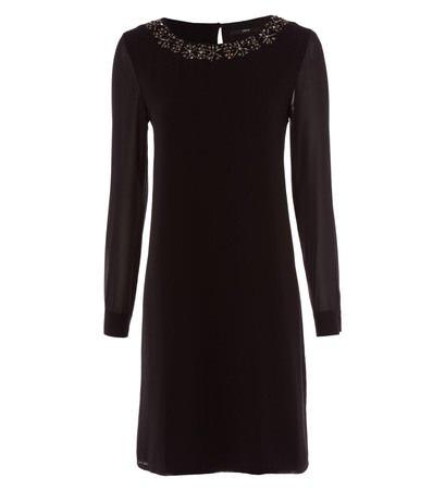 zero Damen Kleid mit Perlenstickerei 313852 black 36