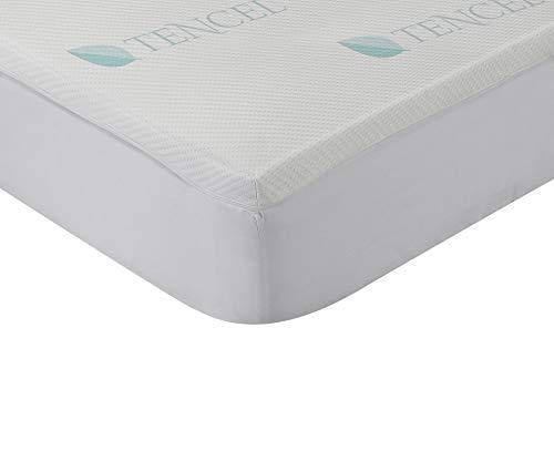 Classic Blanc - Topper/Sobrecolchón viscoelástico Lyocell confort plus, firmeza media-baja, altura...