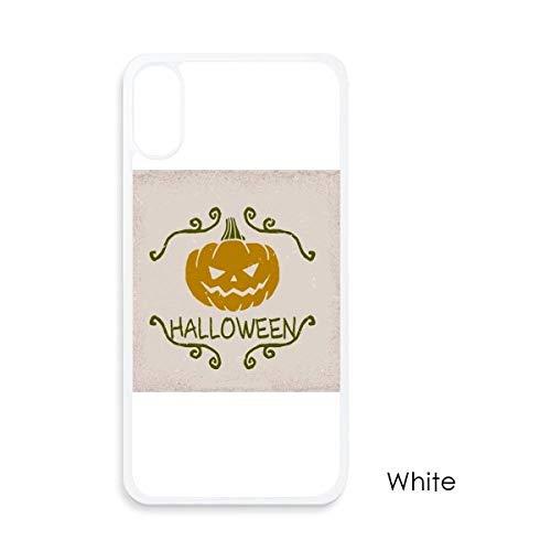 beatChong Halloween-Kürbis-Cartoon-Muster für iPhone X-Hüllen Weiß phonecase Apple-Abdeckungs-Fall-Geschenk