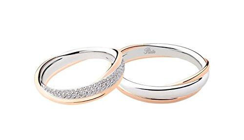 Fedi matrimoniali polello oro e diamanti kt.0.48