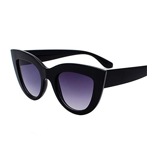 SUMHOME Polarisierte Europa und Amerika Retro Cat Eye Sonnenbrille grenzüberschreitenden Trend wilden Stil Sonnenbrille Explosion Modelle Sonnenbrille, schwarzer Rahmen grau