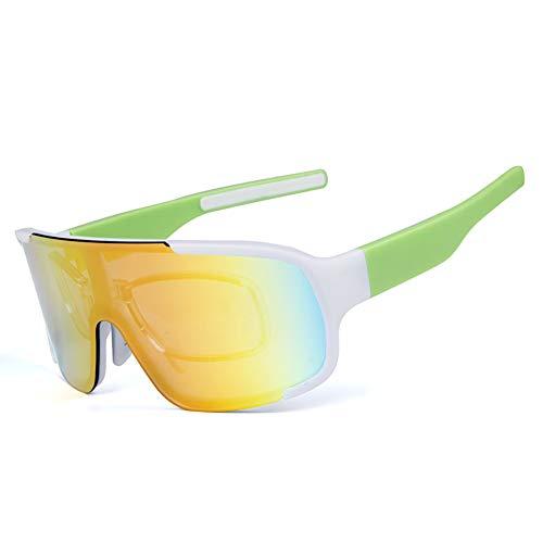 HAOYU Radfahren Brille Outdoor Sports Running Selbstfahrende Mountainbike Winddicht Reitbrille Geeignet für Erwachsene Männer, Frauen,G