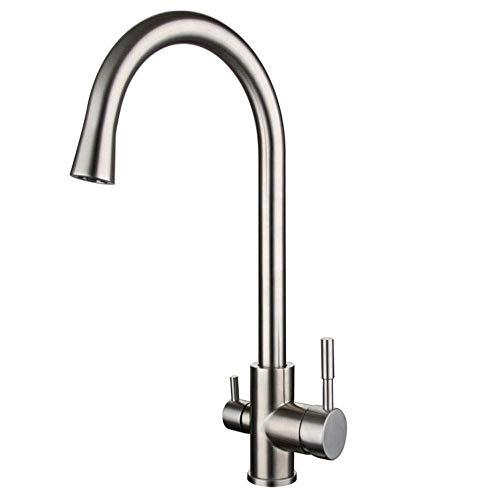Wasserhahn Badarmaturen Küchenarmatur Waschtischarmatur Mit Zugstangespülbecken-Trinkwasser-Reiniger-Hahnⅰ18158