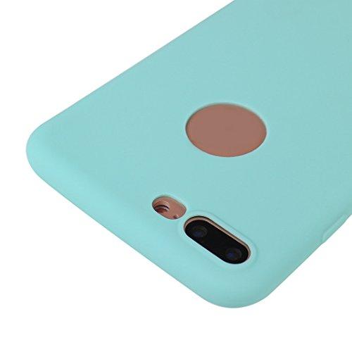iPhone 7 Plus Hülle Dünn Silikon, Asnlove Handy Schutzhülle für Apple iPhone 7 Plus Hülle TPU Silikon Backcover Case Handytasche Einfarbig Telefon-Kasten Tasche Schutz Cover Design Rose Color-13