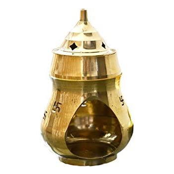 Aadit Crreation Brass Aroma Incense Burner Camphor Lamp Aroma Lamp Oil Burner Oil Diffuser with Diya