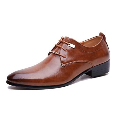 Scarpe da Lavoro per Uomo Formale Scarpe a Punta in Pelle con Lacci Derby Altezza Crescente Scarpe da Lavoro per Ufficio