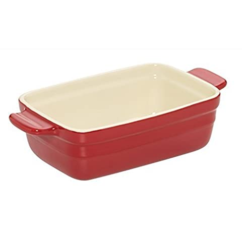 Baker's Advantage Ceramic Loaf Pan, 9 by 5-Inch, Red by Baker's Advantage