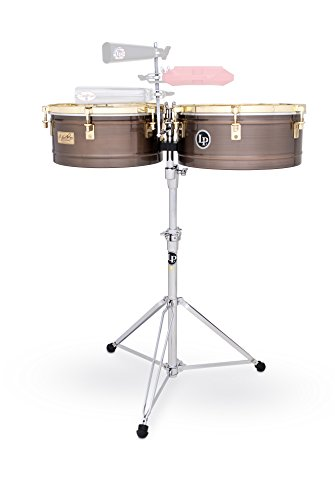 "LP Latin Percussion LP257-KP Timbales Karl Perazzo Antique Bronze 14"" + 15\"", Carbon Stahl Kessel Tiefe 6,5\"""