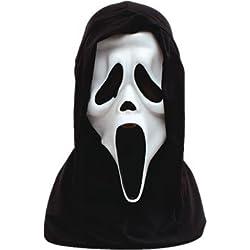 Halloween White Scream Face Mask With Hood Scary Fancy Dress (máscara/careta)