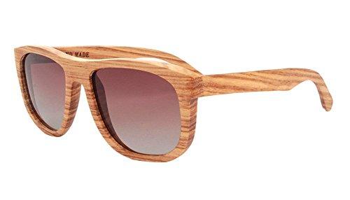 Insun Herren Sonnenbrille Gr. Einheitsgröße, Mehrfarbig - 3010C4 Wood Frame